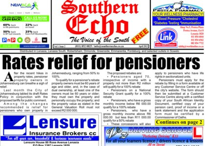 CHECK OUT THE SOUTHERN ECHO APRIL 2013 ISSUE NOW ONLINE