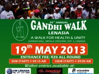28TH ANNUAL GANDHI WALK ON 19 MAY 2013