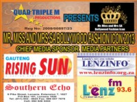 THE SA BOLLYWOOD FASHION ICON 2013 WITH QUAD TRIPLE M PRODUCTIONS AUDITIONS