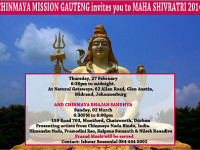 Chinmaya Mission Gauteng invite to Maha Shivratri 2014