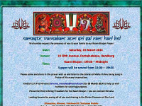 Raam Bhajaans on Saturday 15 March in Randburg