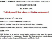 Bhakti Marga SA's healing circle Sunday 20 April at Zoo Lake