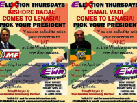Elextion Thursdays with Eastwave Radio tonight Minority Front's Kishore Badal vs ANC's Ismail Vadi