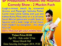 "Don't Miss the Hilarious Comedy Show – ""2 Muckin Fuch"" at Gandhi Hall 2 Aug"