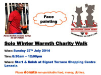 Solo Winter Warmth Charity Walk on Sunday 27 July at Signet Terrace