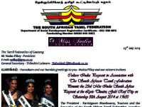 SA Ramil Federation presents Miss India South Africa at Gold Reef City