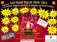 1st Time Ever – East Rand Diwali Show on 4th October 2014