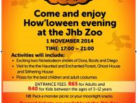 Come and enjoy JHB Zoo's How'loween evening on 1 November 17:00 – 21:00