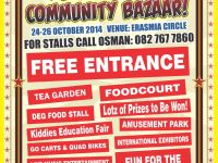 The Laudium Community Bazaar takes place 24 – 26 October