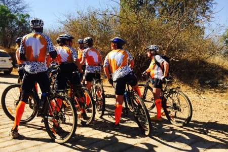 Riding in style and raising awareness for Orange Babies at 947 Cycle Challenge