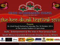 Lenasia's 22nd HCC Diwali festival takes place on Saturday 18 October