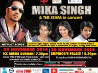 """""""MIKA SINGH & THE STARS"""" –  Live in Concert Sun 30 Nov at Emperors Palace"""