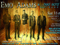 Emo Adams & the Take Note Band at the Majestic Theatre on 31 Jan 2015