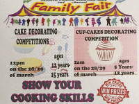 Saaberie Chishty Madressa hosts Cake decorating and Cup cake decorating competition at Family Fair on the 28th & 29th March 2015
