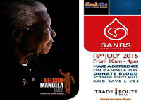 Mandela Day Saturday 18 July donate blood at the Trade Route Mall Lifestyle Centre