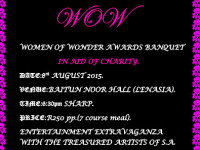 Women of Wonder Awards Banquet 8 August Baitun Noor Hall Lenasia