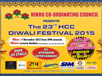 The 23rd HCC Diwali Festival takes place this weekend 7 November at the Lenasia Stadium
