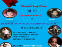 """Panache proudly presents """"Dil Se"""" on Saturday 14 May at Patidar Hall"""