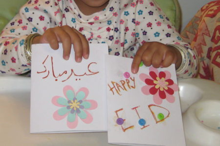 Community Eid card making project for children